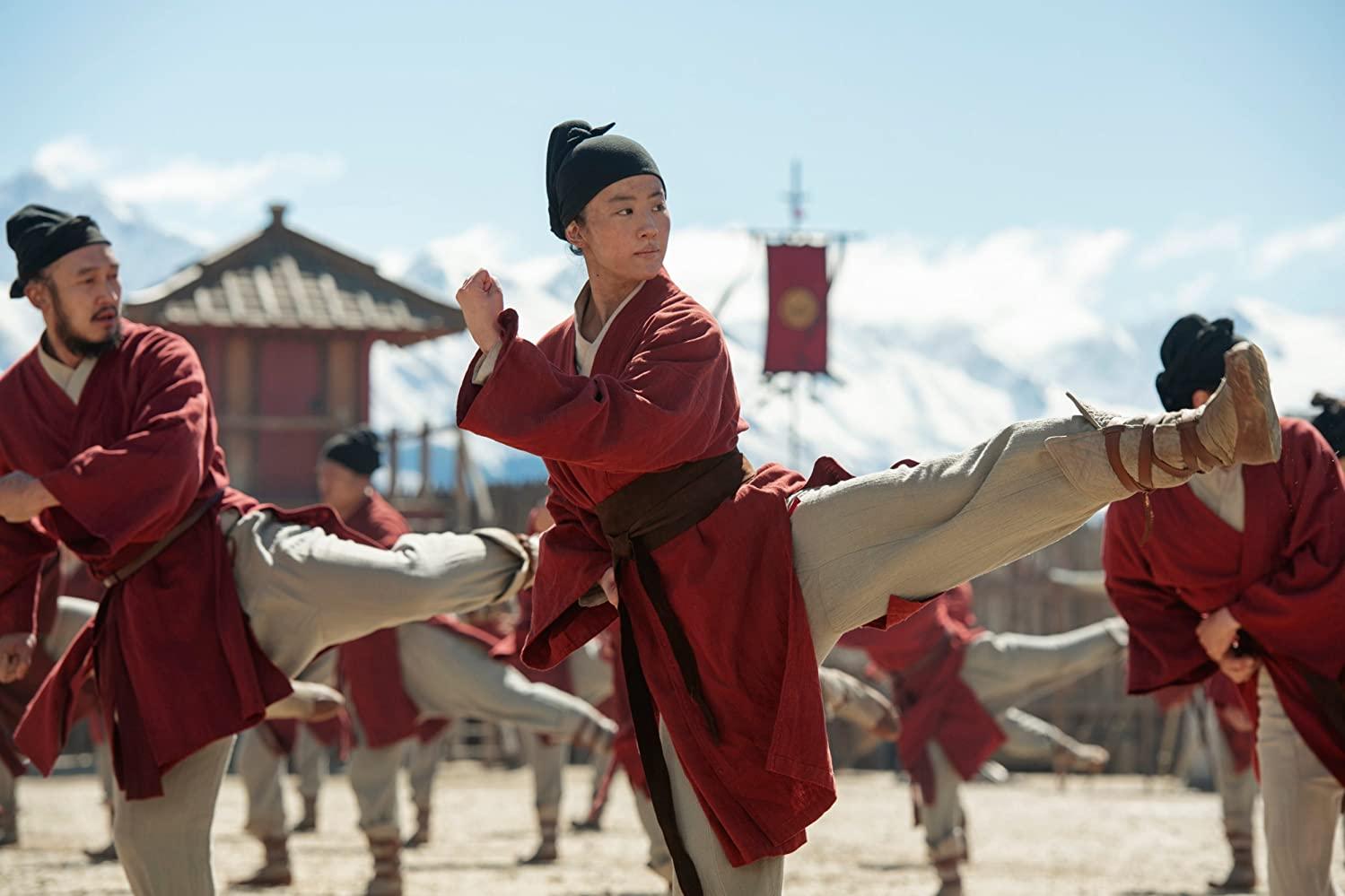 A scene from Mulan